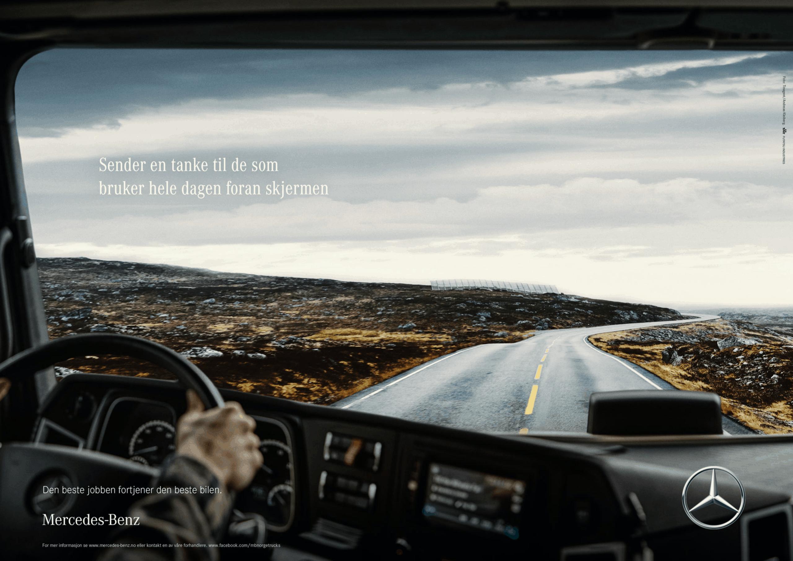 Hvordan få lastebilsjåfører til å vurdere Mercedes-Benz?